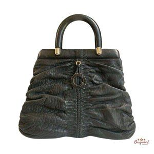 Authentic CHRISTIAN DIOR Ruched Karenina Bag